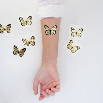 MDIGIJ5 Giolden Butterfly / Tattoonie Temporary Tattoos