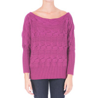 Catherine Malandrino Womens Cable Knit Boatneck Pullover Sweater