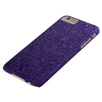 Cool Awesome Purple Glitter Barely There iPhone 6 Plus Case