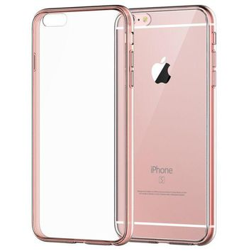 DCCKRQ5 iPhone 6s Case, JETech Apple iPhone 6/6s Case Shock-Absorption Bumper and Anti-Scratch Clear Back for iPhone 6s iPhone 6 4.7 Inch (Rose Gold) - 3194