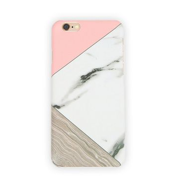 White Marble Tangram - iPhone Case