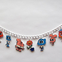 The Amazing World of Gumball Charm Barcelete Gumball, Tobias,Darwin,Anais