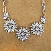 Silver Jewel Necklace