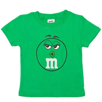 M&M's Candy Character Face T-Shirt - Toddler - Green - 3T
