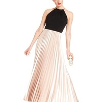 Xscape Dress, Sleeveless Pleated Halter Gown - Dresses - Women - Macy's