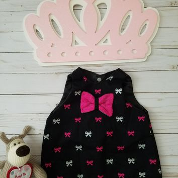 Black and Pink Baby Girl Dress (9- 12 months)