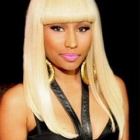 "Nicki Minaj 18""?Long Straight With Bangs Synthetic Wigs for Women White"