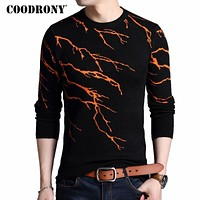 Men New Winter Warm Men Knitted Sweaters Cashmere Wool Men Sweater Fashion Flashing Lightning Pull Home