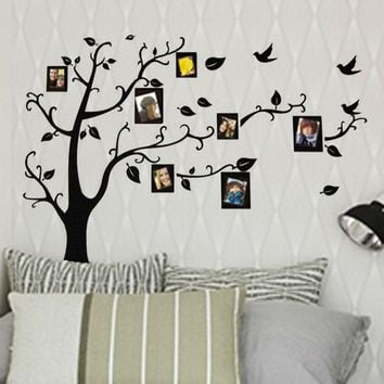 "Free Shipping XXL Size 99''*79"" Family Picture Photo Frame Tree Wall Quote Art Stickers Vinyl Decals Home Decor"