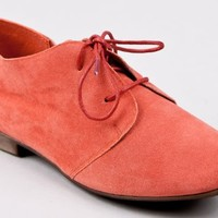 Breckelle's SANDY-21 Lace Up Oxford Flat