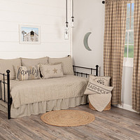 Sawyer Mill Charcoal Ticking Stripe Daybed Quilt Set