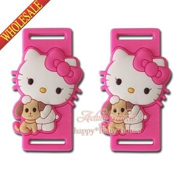 New 2Pcs Lovely Hello Kitty Cartoon Shoelace Charms Shoe Accssories Sport Sneaker Boots Shoe Laces Silicone Shoelaces,Kids Gift