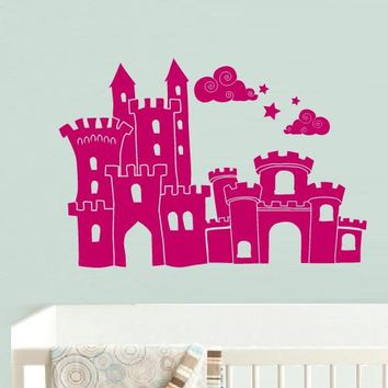 Wall Vinyl Decal Sticker Bedroom Decal Nursery Kids Baby Castle Princess Magic z587
