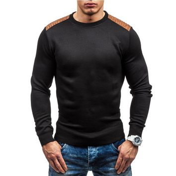 2017 New Autumn sweaters Fashion Brand Casual Sweater O-Neck Striped Slim Fit Knitting Mens Sweaters And Pullovers Men Pullover