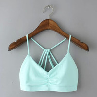 womens casual sports bra top+Free Summer Gift -Random Necklace 157