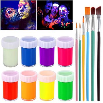 Glow in the Dark Fluorescent Body & Face Painting Kit