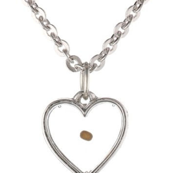 Bob Siemon Mustard Seed Heart Pendant Necklace, 20""