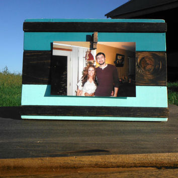 Rustic Wooden Picture Frame -  Three Tone