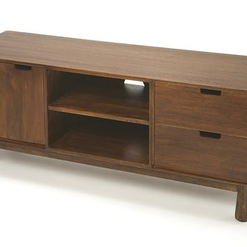 Drayton Modern Wood Entertainment Console