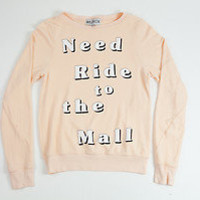 Wildfox Couture Need Ride to the Mall Baggy Beach Jumper in Dionne NWT
