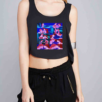hercules and meg disney princess kiss for Crop Tank Girls S, M, L, XL, XXL *07*