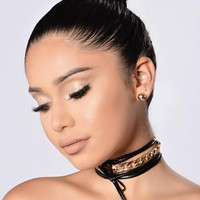 Want You To Want Me Choker - Black