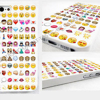 Emoji iPhone 4,4s, 5C, 5S,5, glossy cover Case,Tie Dye,Alien,princess,monkey,