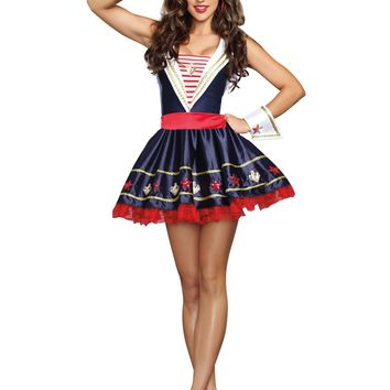 Shore Thing Sailor Costume (Medium,As Shown)