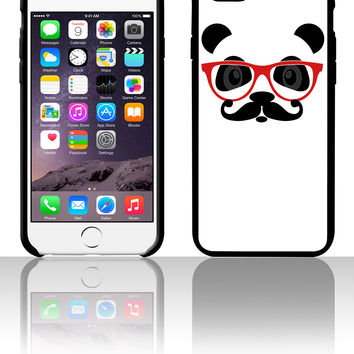 nerd panda with moustache and glasses 5 5s 6 6plus phone cases