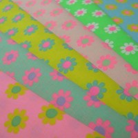 Half Yard Original Fabric Daisy Pop Blue by BunnyBunnybyPinks