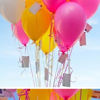 Balloon wishes in Ideas for planning, organizing and decorating babies, kids and adults parties