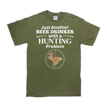 Funny Hunting Shirt Beer Lover Gifts For Dad T Shirt Grandpa Gift Ideas For Him Hunter Shirt Beer Drinker Beer T-Shirt Mens Tee - SA658