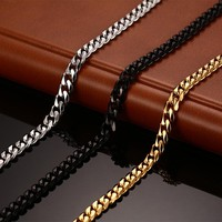 Vnox Classic Chain Necklace 24/30 inchs for Men Long Necklace 3/5/7MM Wide Titanium Steel DIY Jewelry