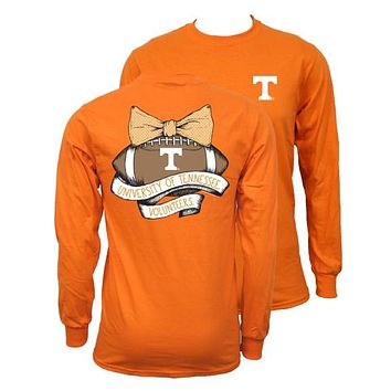 Southern Couture Tennessee Volunteers Vols Vintage Football Long Sleeve T-Shirt
