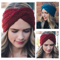 """Forever Style"" Waffle Knit Cozy Soft HeadBand, HeadWrap"