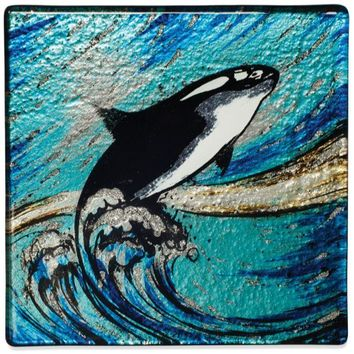 """Angelstar Cozenza Collection Orca Whale Coaster Set-4"""""""