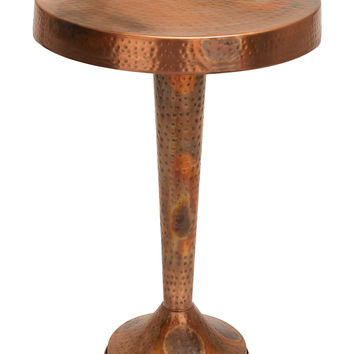 Vintage Inspire Metal Copper Accent Table