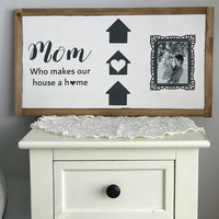 Mother's Day gift, mother daughter gift, first mom gift, gallery wall, Mother's Day, farmhouse sign, modern rustic home, framed signed, mom