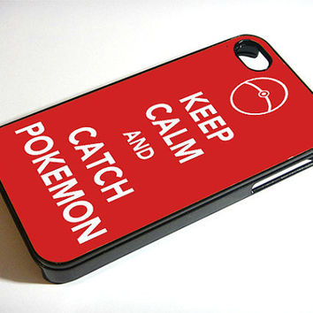 iPhone 4/4s Case Keep Calm and Catch Pokemon by ExpressoPrint