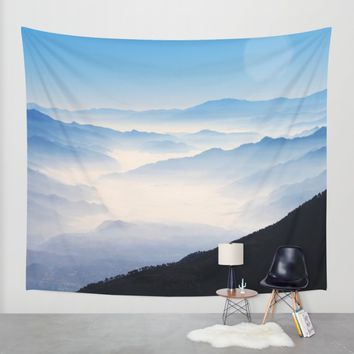 Inhale Wall Tapestry by Mixed Imagery