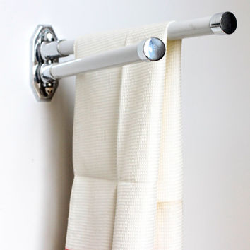 Vintage Bathroom Towel Rod or Bar - French Art Deco Towel Rack