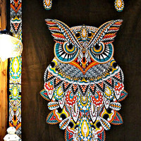 Tribal Owl Boho Wall Bed Tapestry