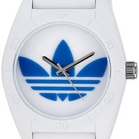 adidas Unisex ADH2921 Santiago White Plastic Watch with Silicone Strap