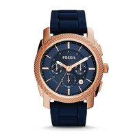 Machine Chronograph Silicone Watch - Blue