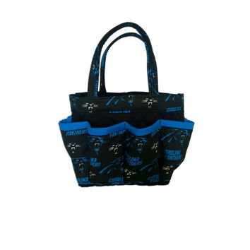 Carolina Panthers Bingo Bag // Craft Organizer // Makeup Organizer // Caddy // Teacher Tote // Nurse Tote