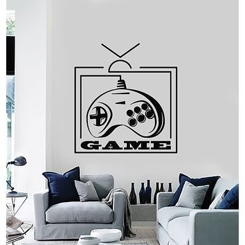 Vinyl Wall Decal Gamer Zone Computer Buttons Game Console Stickers Mural (g1008)