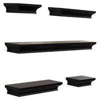 Traditional Shelf Set 5pc - Black - Threshold™