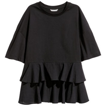 H&M Jersey Top with Flounces $12.99