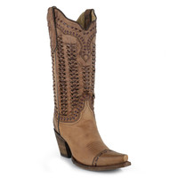 Corral Women's Braided Snip Toe Fashion Boots
