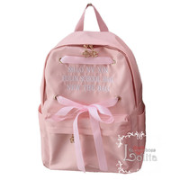 J-fashion 4 Colors Kawaii Simple Lace Backpack LK17121814 from lolita store